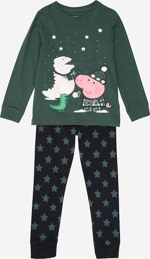 NAME IT Pyjama 'PEPPAPIG' en bleu marine / sapin / mélange de couleurs, Vue avec produit