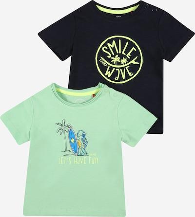 s.Oliver T-Shirt in blau / navy / mint / hellgrün, Produktansicht