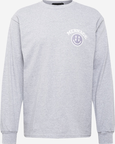 Mennace Shirt 'TWISTED SMILEY' in grey / light grey / white, Item view