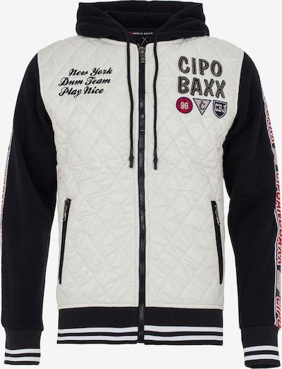 CIPO & BAXX Freizeitjacke in schwarz / weiß, Produktansicht
