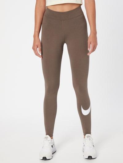 Nike Sportswear Leggings in stone / weiß, Modelansicht