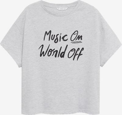 MANGO KIDS Shirt 'WORLD' in graumeliert / schwarz, Produktansicht