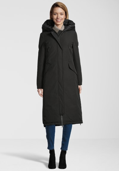 BLONDE No. 8 Wintermantel 'Polar Long' in schwarz, Modelansicht