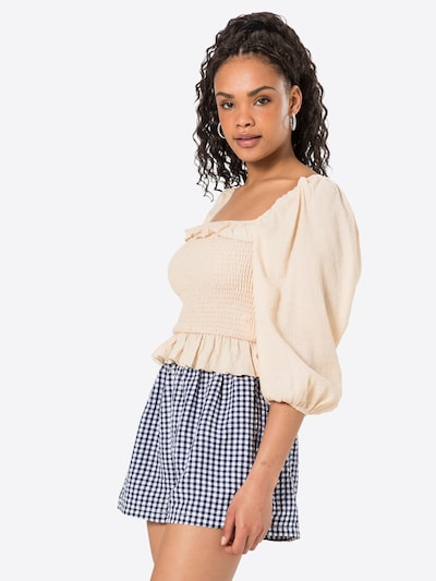Missguided Bluse in creme, Modelansicht