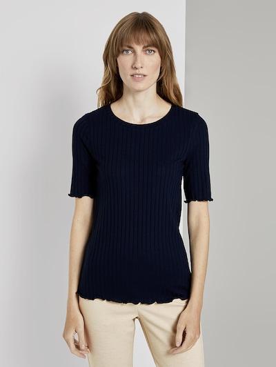 TOM TAILOR Shirt in dunkelblau: Frontalansicht