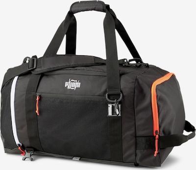 PUMA Sporttas in de kleur Sinaasappel / Zwart / Wit, Productweergave