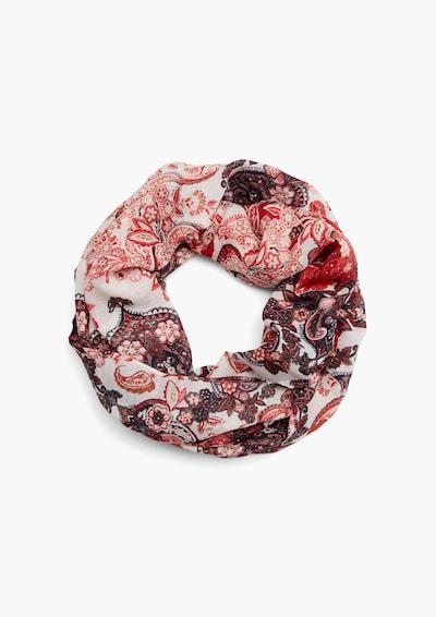 s.Oliver Schal in rot / offwhite, Produktansicht