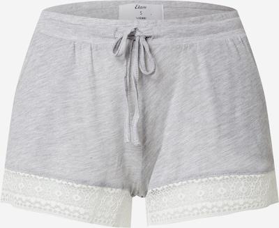 ETAM Pyjamahousut 'WARM DAY' värissä harmaa / valkoinen, Tuotenäkymä