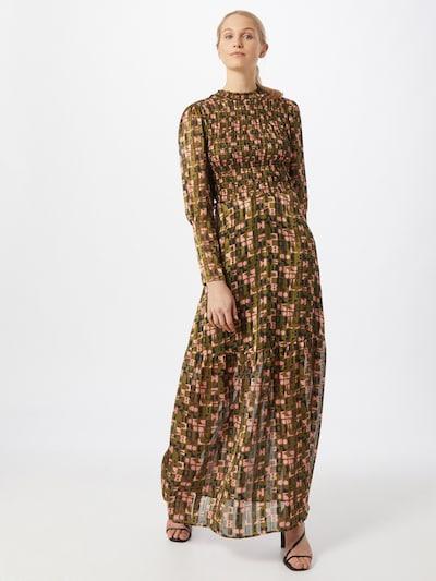 SCOTCH & SODA Kleid in dunkelblau / oliv / rosa / rosé, Modelansicht