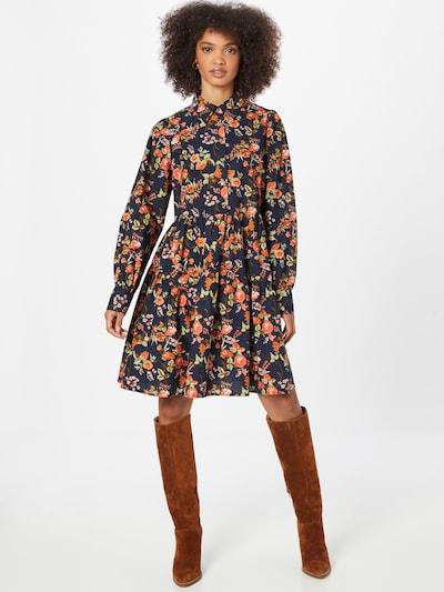 Rochie tip bluză 'MAROKKA' Y.A.S pe bleumarin / oliv / verde mentă / roșu orange, Vizualizare model