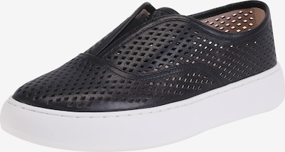 Ekonika Coole Slipons aus perforiertem Leder in schwarz / weiß, Produktansicht