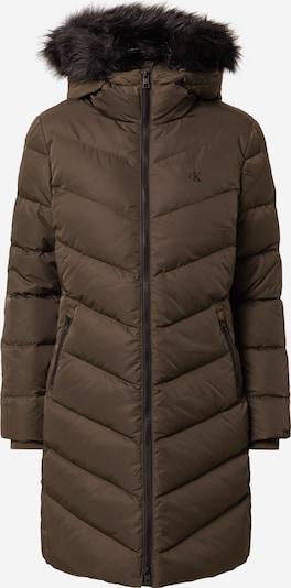 Žieminis paltas iš Calvin Klein Jeans, spalva – tamsiai ruda / juoda, Prekių apžvalga