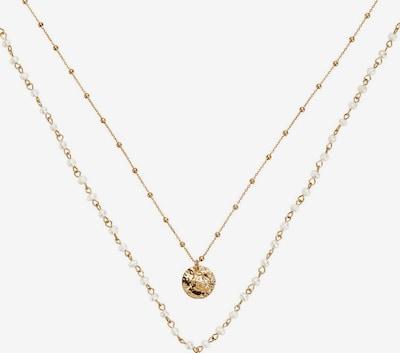 HALLHUBER Kette in gold / perlweiß, Produktansicht
