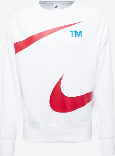 Hanorac sport Nike Sportswear pe azuriu / roșu / alb, Vizualizare produs