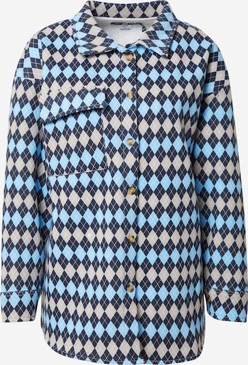 Daisy Street Bluse in kitt / hellblau / dunkelblau / weiß, Produktansicht
