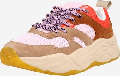 Sneaker low 'Celest' SCOTCH & SODA pe maro / roz / roșu ruginiu, Vizualizare produs