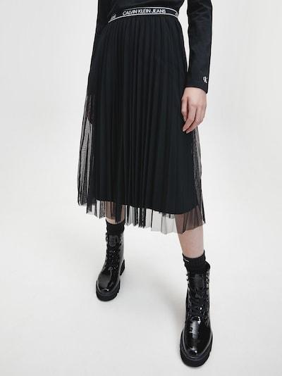 Calvin Klein Jeans Rock in schwarz: Frontalansicht