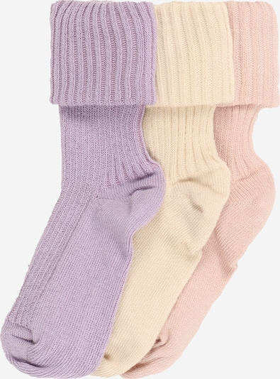 mp Denmark Socks in pastel yellow / lilac / pink, Item view