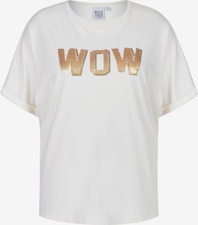 Rock Your Curves by Angelina K. T-Shirt in bronze / weiß, Produktansicht