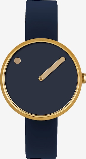 Picto Uhr in navy / goldgelb, Produktansicht