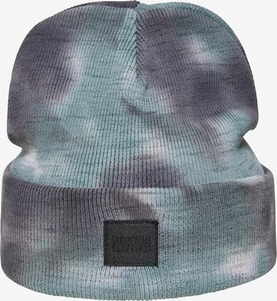 Urban Classics Bonnet en bleu pastel / gris clair / vert pastel, Vue avec produit