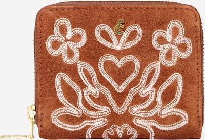 Fabienne Chapot Wallet 'Mimi' in Brown / White, Item view