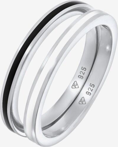 ELLI Parure de bijoux en noir / argent / blanc, Vue avec produit