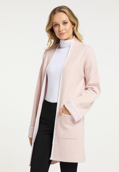 DreiMaster Klassik Knitted coat in Dusky pink / White, View model