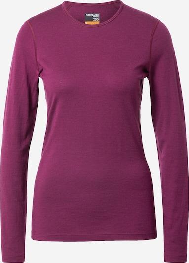 Sportiniai marškinėliai 'Oasis' iš Icebreaker , spalva - uogų spalva, Prekių apžvalga