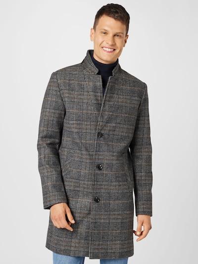TOM TAILOR DENIM Prechodný kabát - tmavosivá / čierna / biela, Model/-ka
