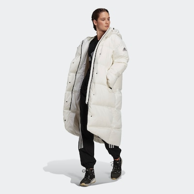 ADIDAS PERFORMANCE Outdoor Coat in Black / White, View model