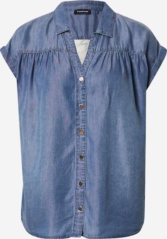 TAIFUN Bluse in Blau