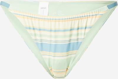 Slip costum de baie AERIE pe azuriu / galben auriu / verde mentă / alb, Vizualizare produs