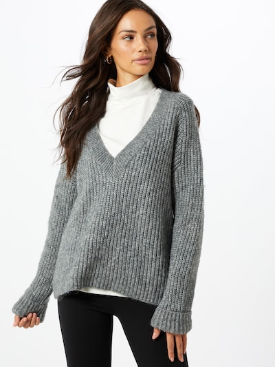 ABOUT YOU Pullover 'Valeska' in grau: Frontalansicht