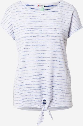 STREET ONE T-shirt en bleu / blanc, Vue avec produit