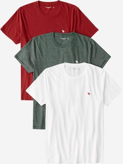 Abercrombie & Fitch T-Shirt 'HOLIDAY' in grün / rot / weiß, Produktansicht