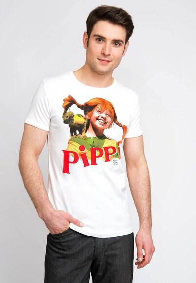 LOGOSHIRT T-Shirt mit coolem Front-Druck in naturweiß: Frontalansicht