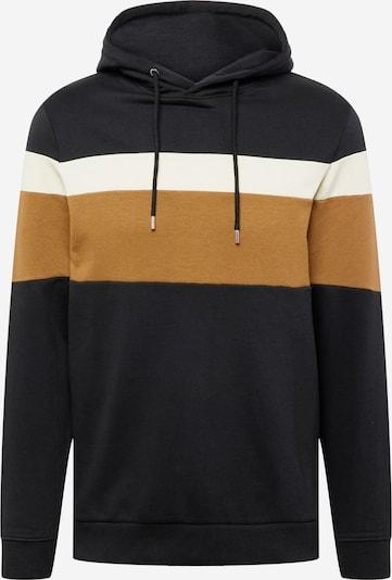 !Solid Sweatshirt 'Johan' in Cream / Cognac / Black, Item view