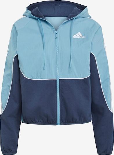 ADIDAS PERFORMANCE Sportjacke in hellblau / dunkelblau / weiß, Produktansicht