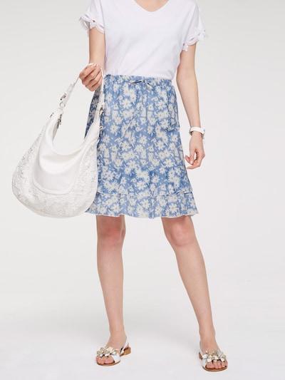 heine Sukně - modrá / perlově bílá: Pohled zepředu