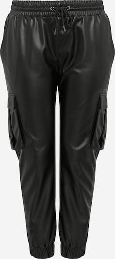 Urban Classics Curvy Pantalon cargo en noir, Vue avec produit
