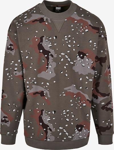Urban Classics Sweatshirt in dunkelbraun / grau / khaki / rostrot, Produktansicht