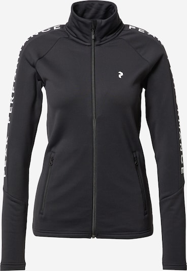 PEAK PERFORMANCE Veste de sport en noir / blanc, Vue avec produit