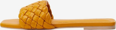 VIOLETA by Mango Pantolette 'Talio' in goldgelb, Produktansicht