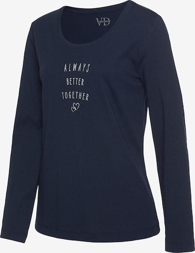VIVANCE Pyjamaoberteil in dunkelblau, Produktansicht