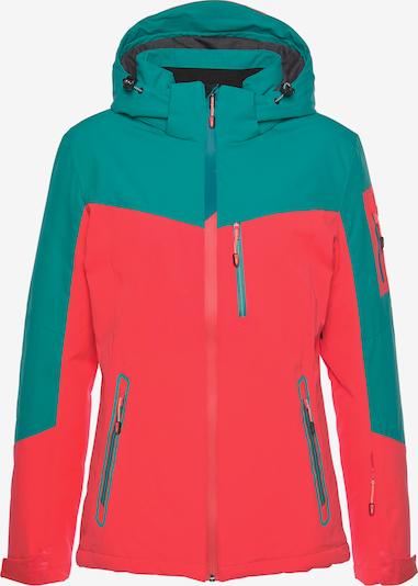 KILLTEC Skijacke in grün / koralle, Produktansicht