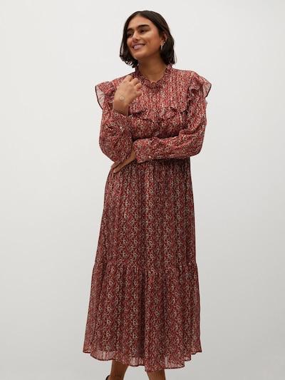 VIOLETA by Mango Kleid 'Country' in hummer / orangerot / weiß, Modelansicht