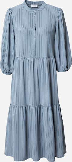 Rochie tip bluză Love & Divine pe albastru fumuriu / negru, Vizualizare produs