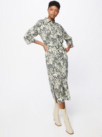 minimum Robe-chemise 'Norri' en vert clair / vert foncé / blanc, Vue avec modèle