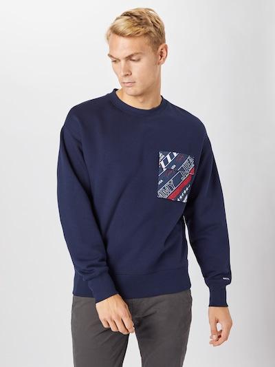 Tommy Jeans Sweater majica u mornarsko plava / miks boja, Prikaz modela